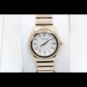 Anne Klein Accessories - Anne Klein Gold Stainless Swarovski Crystal Watch